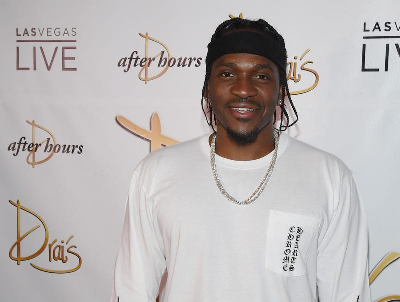 Rapper Pusha T arrives at the debut of his residency at Drai's Beach Club - Nightclub at The Cromwell Las Vegas on June 16, 2018 in Las Vegas, Nevada.