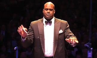 NBA legend Shaquille O'Neal conducts the Boston Pops.