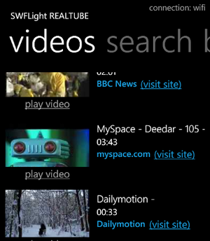 Illustration for article titled RealTube Brings YouTube, DailyMotion, and Other Flash Video to Windows Phone 7