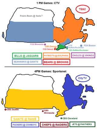 Illustration for article titled Week 15 NFL Viewing Maps: Canadian Edition