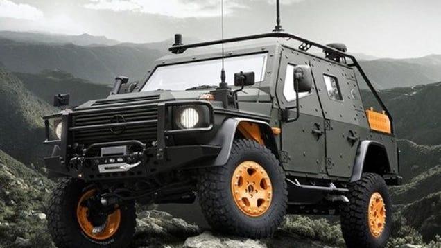 Mercedes benz g wagon lapv 6 x armor plated military hardass for Mercedes benz g wagon lapv 6 x