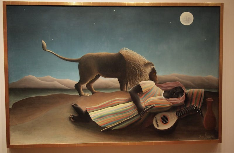 Image from nakashi/flickr. Painting by Henri Rousseau.