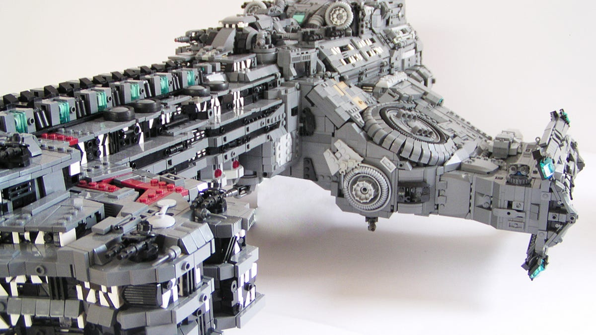 The Battlecruiser Hyperion From Starcraft Ii La Lego