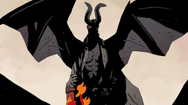 Illustration for article titled Mike Mignola puts his signature creation to rest in Hellboy In Hell #10