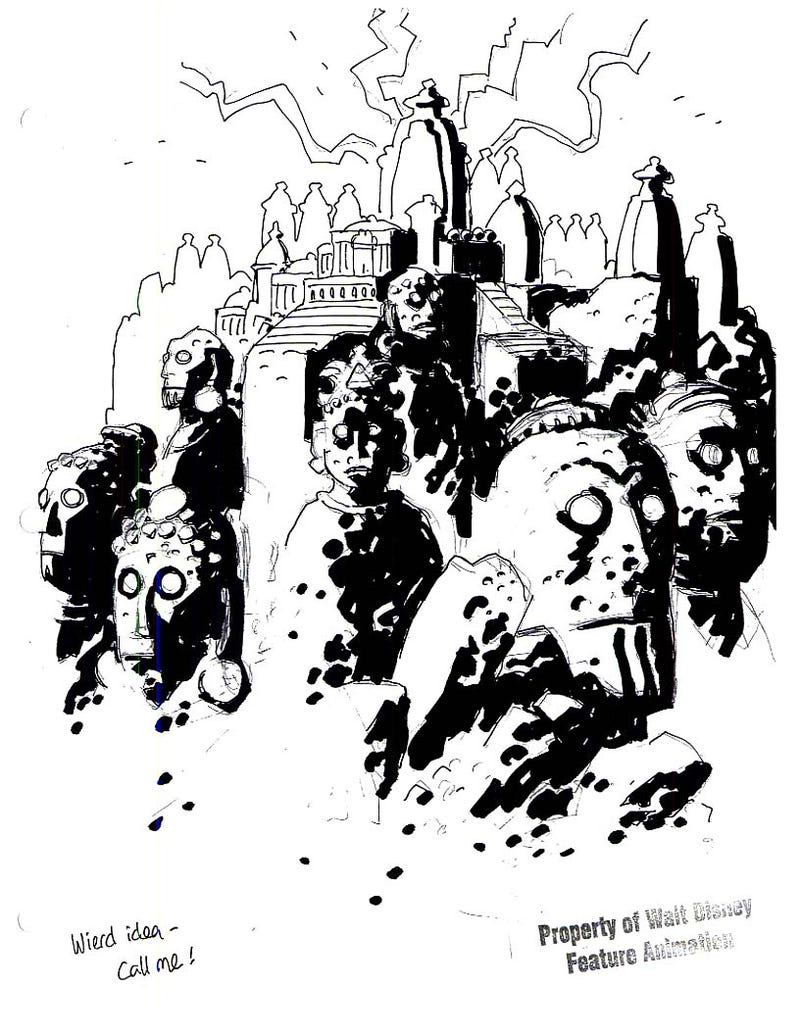 Image result for mike mignola atlantis""