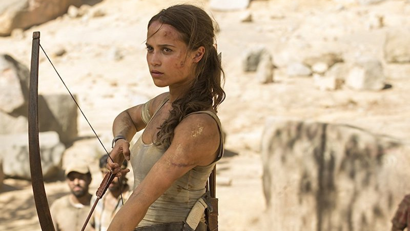 Lara Croft takes aim at another box office adventure.
