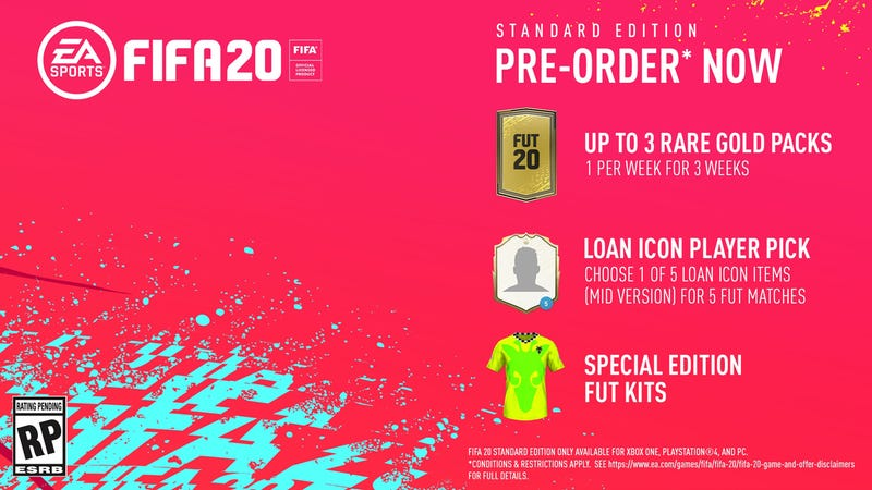 FIFA 20 Standard Edition (Xbox, PlayStation 4 and Switch) Pre-Order | $51 | Amazon
