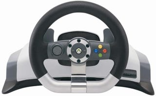 Illustration for article titled Xbox 360 Racing Wheel Reviewed (Verdict: Laptastic)