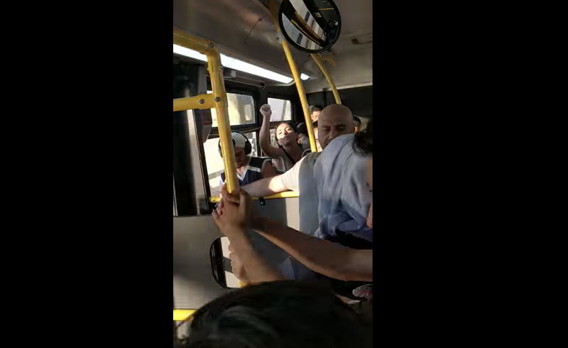 Illustration for article titled Woman Goes on Hate-Filled Anti-Muslim Rant on New York City Bus: 'ICE is Here For You'