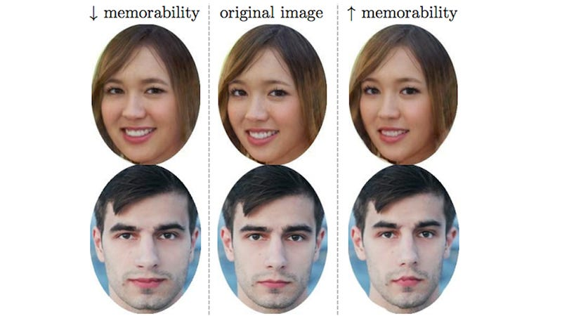 Illustration for article titled This Algorithm Can Make Pictures of Your Face More Memorable