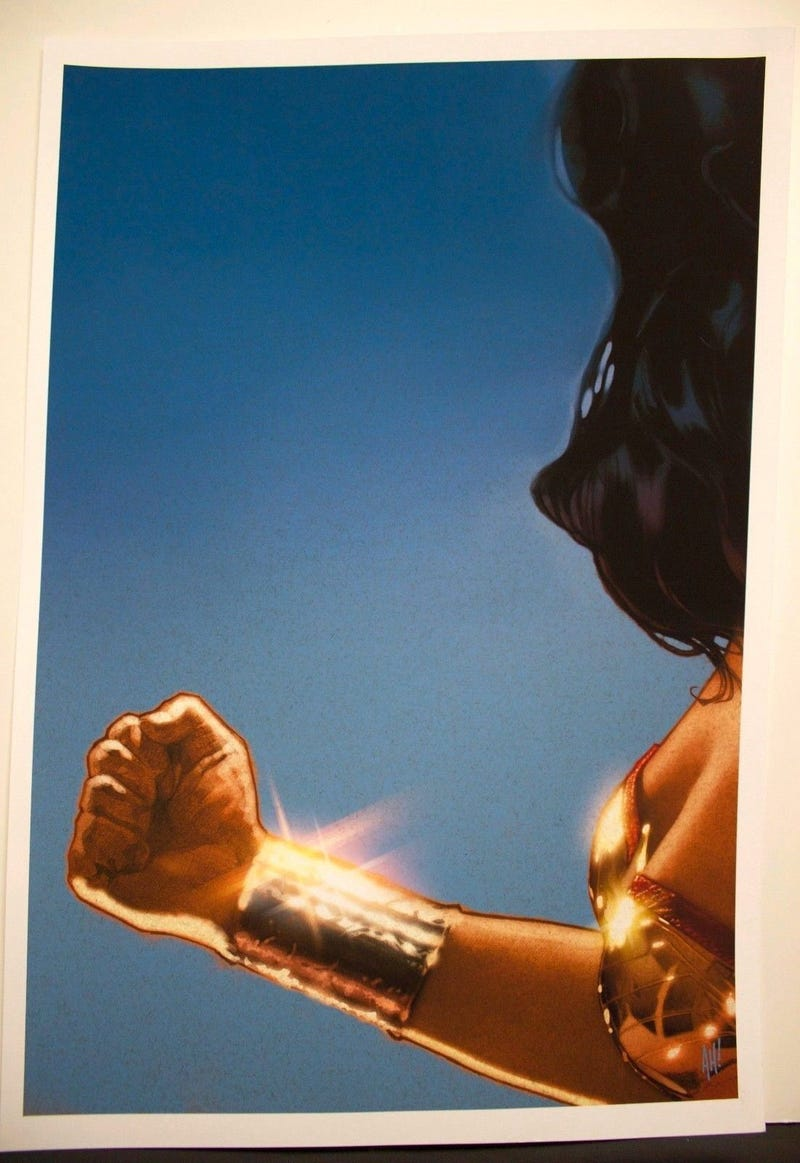 Illustration for article titled Rare Promo Art For Joss Whedon's Wonder Woman Movie That Never Was