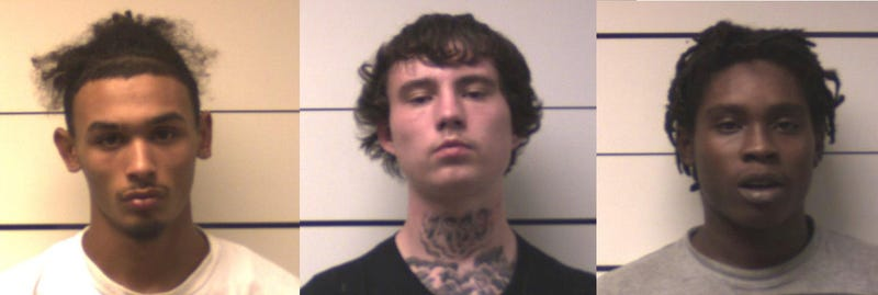 Suspects charged with armed robbery of people playing Pokemon Go: (left to right) Shane M. Backer, Brett W. Miller, and Jamine J. Warner