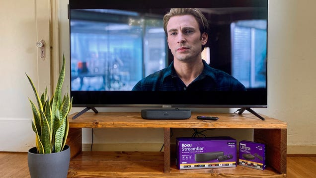 Stream Movies to Your Soundbar on a  Sandwich-Sized  Roku Streambar, Now $30 Off