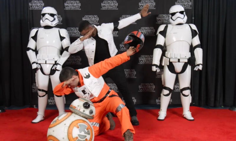 John Boyega surprised fans at Star Wars Celebration and it's delightful. Image: Omaze