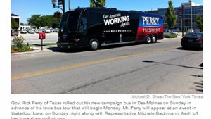 Illustration for article titled Say Hello to Rick Perry's New Campaign Bus