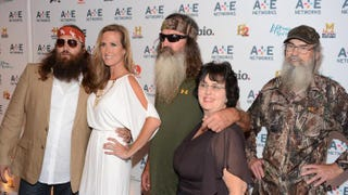 Willie Robertson, Korie Robertson, Phil Robertson, Miss Kay Robertson and Si Robertson of Duck DynastyDimitrios Kambouris/Getty Images