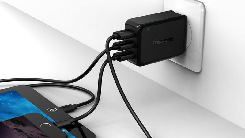 Tronsmart 42W 3-Port USB Charger with 6' Cable, $8 with code 3USBWALL