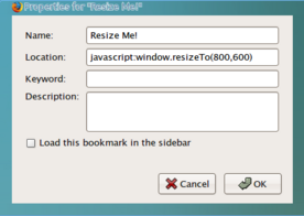 Illustration for article titled Resize Firefox with a Bookmarklet