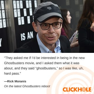 Illustration for article titled Rick Moranis Said What?!