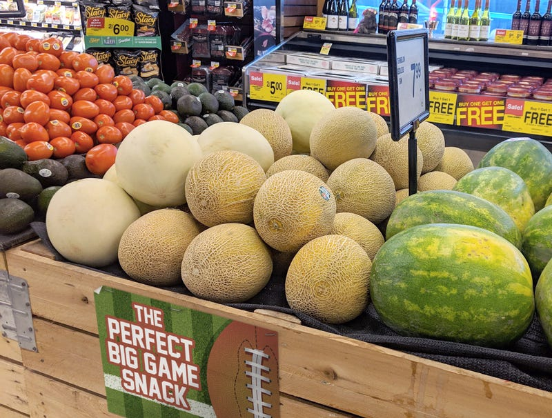 Illustration for article titled Grocery Store Not Fooling Anybody By Marketing Cantaloupe As Fun Super Bowl Snack