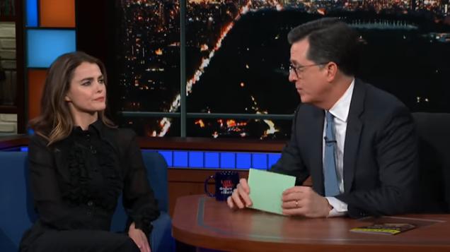 Stephen Colbert is unable to break Keri Russell with his Star Wars spoiler tactics