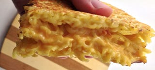 Illustration for article titled Grilled ramen cheese sandwich: Like eating mac-n-cheese with your hands