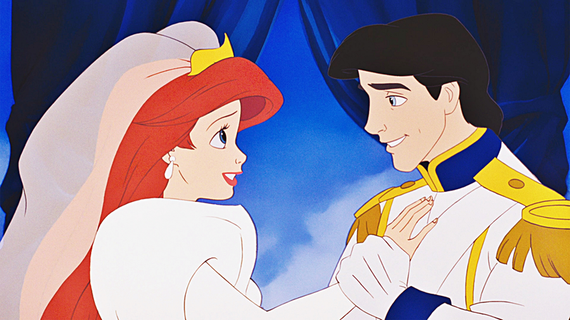 Ariel and Eric, getting their happily-ever-after.