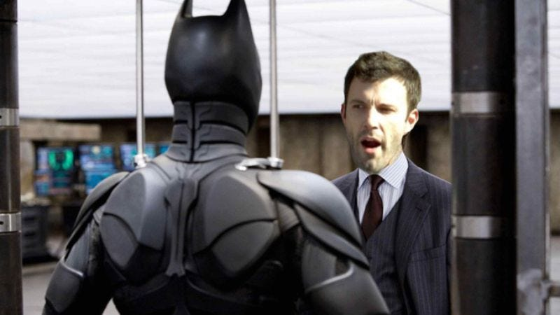 """Illustration for article titled Ben Affleck's Batman will be """"tired and weary,"""" says Warner Bros. exec who's really sellin' it"""