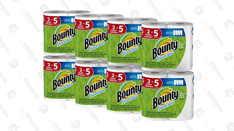 Bounty Quick-Size Paper Towels, 16 Count | $34 | Amazon | Clip $3 Coupon on page