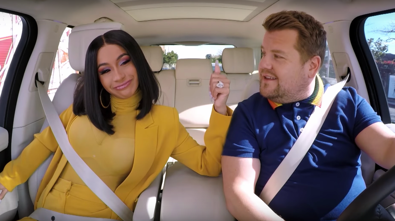 Illustration for article titled Only Cardi B Could Salvage Carpool Karaoke