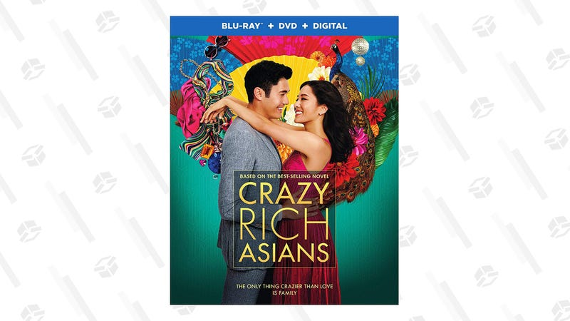 Crazy Rich Asians (Blu-ray + DVD + Digital Combo Pack) | $10 | Amazon