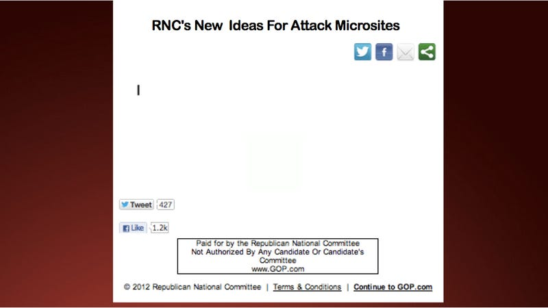 Illustration for article titled RNC Unapologetically Lifts Code From Year-Old DNC Attack Site