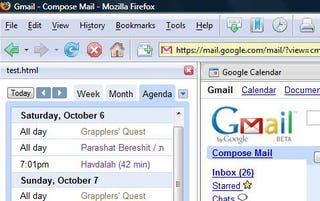 Display Your GCal Agenda in Firefox's Sidebar