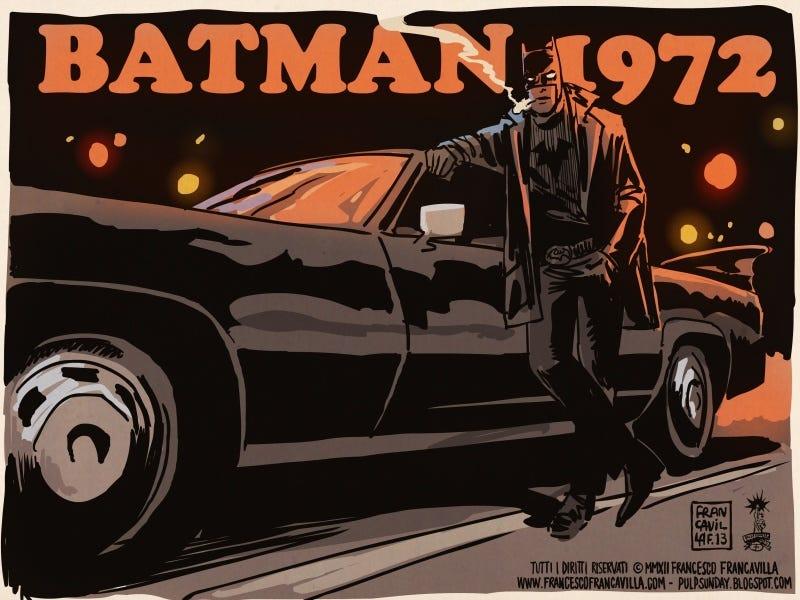 Illustration for article titled Batman reimagined as a 1970s grindhouse flick