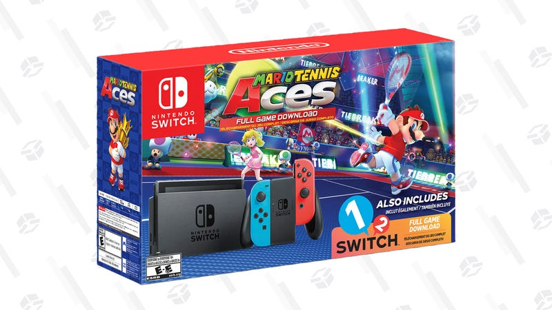 Nintendo Switch System, Neon Blue & Neon Red with Mario Tennis Aces & 1-2-Switch | $359 | Walmart