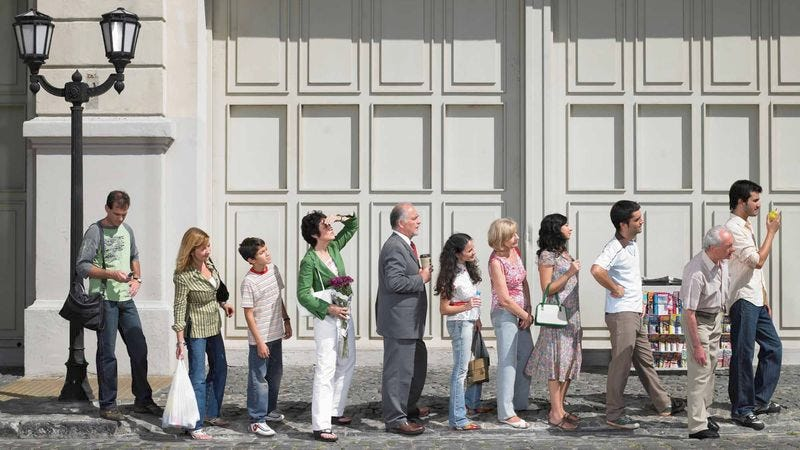 Illustration for article titled Excited Nation Already Lining Up Outside IRS Offices In Anticipation Of Tax Day