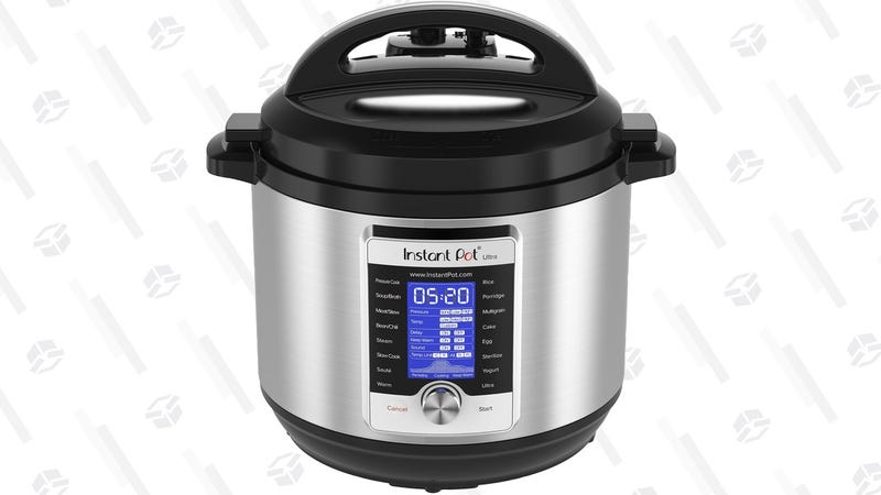Instant Pot Ultra 6 qt.  $85   Amazon Instant Pot DUO80 8 qt.   $80   AmazonInstant Pot 6 Qt. olla para el interior   $15   AmazonGráfico: Shep McAllister