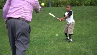 Zion Harvey playing baseballPENN MEDICINE/CHILDREN'S HOSPITAL OF PHILADELPHIA screenshot