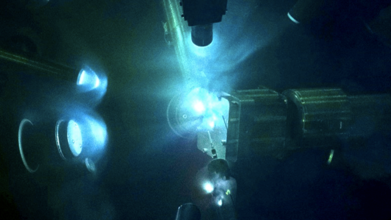 The Omega Laser's target chamber.