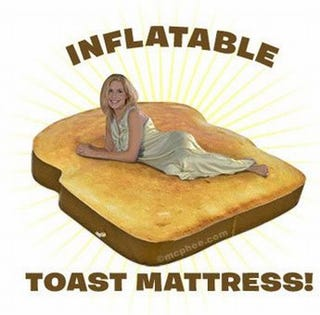 Illustration for article titled Toast Mattress Perfect For Hot, Buttery Afternoon Delights