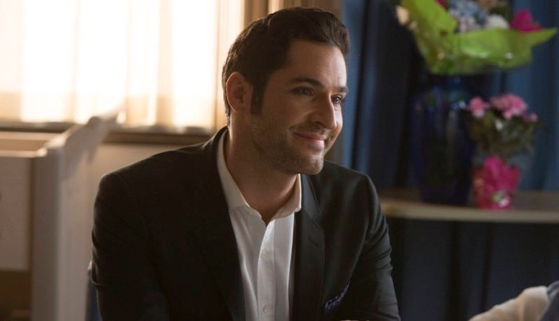 Lucifer (Tom Ellis) in the winter finale episode. Image: Michael Courtney/FOX.
