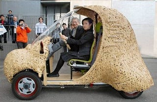 Illustration for article titled Eco-Friendly BamGoo Car Is Meal on Wheels For Pandas