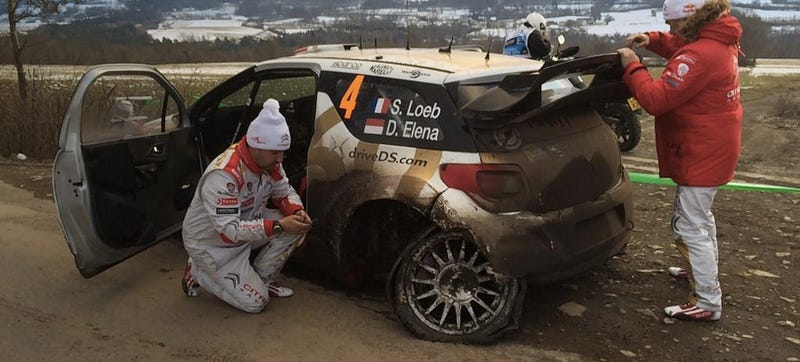 Illustration for article titled Breaking News: Sébastien Loeb Makes Mistake