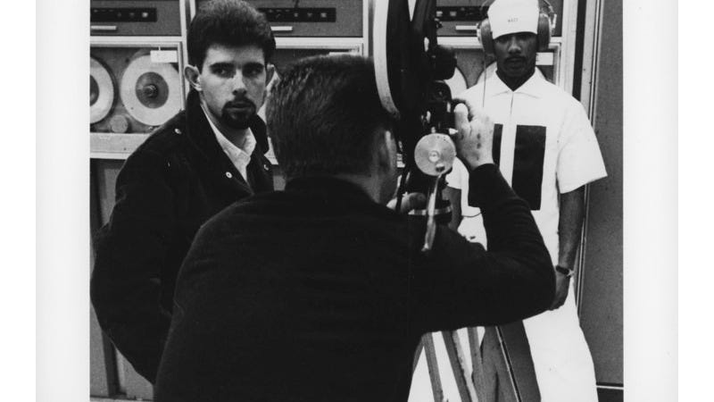A young George Lucas on the set of his student film. Image: Dust