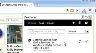 Illustration for article titled Postponer Adds ReadItLater Integration to Google Chrome