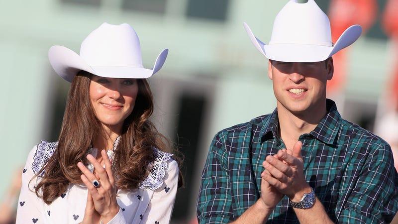 Illustration for article titled Prince William & Kate Middleton Wear Canadian Cowboy Hats