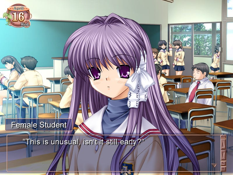 Anime dating sim visual novel