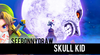 Illustration for article titled SeeBonnyDraw: Skull Kid!  In Speed Painting Form!