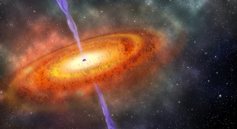 Colossal distant black hole holds surprises about early universe