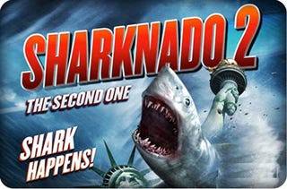 Illustration for article titled The Definitiver Review of Sharknado 2